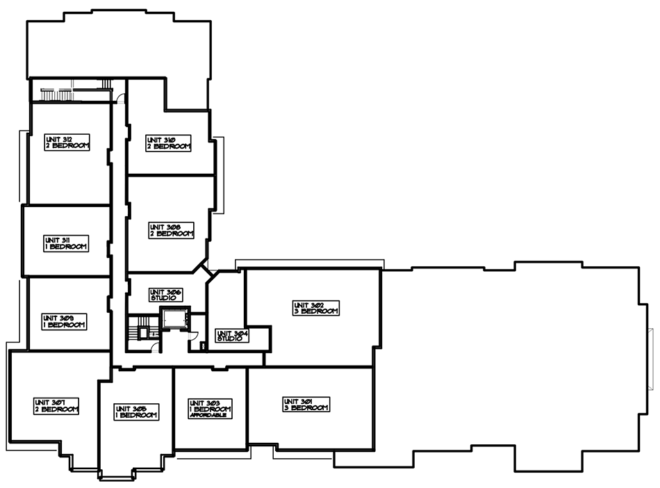 Third Floor Layout